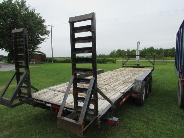 2009 Load King Triaxle Flat Bed Trailer