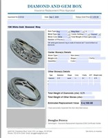 10KT WHITE GOLD .75CTS DIAMOND RING