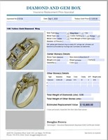 14KT YELLOW GOLD .90CTS DIAMOND RING FEATURES 3