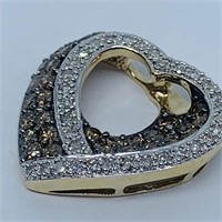 10KT YELLOW GOLD 1.44CTS MULTI COLOR DIAMOND PEND.