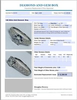 14KT WHITE GOLD 1.90CTS DIAMOND RING FEATURES