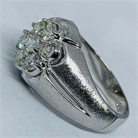 14KT WHITE GOLD 1.50CTS MENS DIAMOND RING