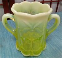 61 - YELLOW VASELINE GLASS - OLD FENTON NO MARKING