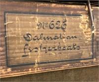 R. Sicard Dalmatian Fisherboats Oil Painting