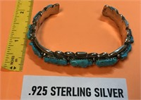 NATIVE AMERICAN ZUNI .925 STERLING SILVER &