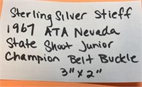 .925 STERLING SILVER STIEFF 1967 ATA NEVADA STATE