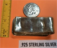 .925 STERLING SILVER MONEY CLIP WITH 1973