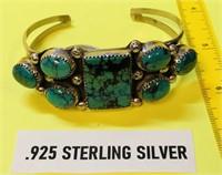 .925 STERLING SILVER CUFF BRACELET  33.60 GRAMS