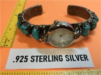 NATIVE AMERICAN .925 STERLING SILVER & TURQUOISE