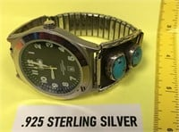 VINTAGE WATCH WITH .925 STERLING SILVER &
