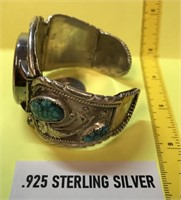 NATIVE AMERICAN .925 STERLING SILVER & TURQOUISE