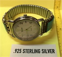 D - VINTAGE WATCH W/STERLING SILVER/TURQUOISE WATC