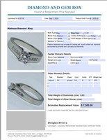 PLATINUM .83CTS DIAMOND RING FEATURES .33CTS