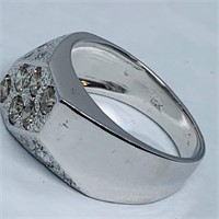 14KT WHITE GOLD 1.70CTS MULTI COLOR DIAMOND RING