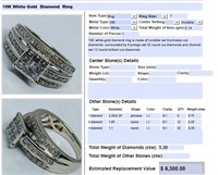 10KT WHITE GOLD 1.30CTS DIAMOND RING