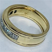 14KT YELLOW GOLD 1.10CTS DIAMOND RING