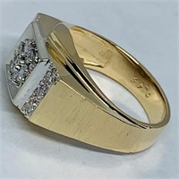14KT YELLOW GOLD .50CTS MENS DIAMOND RING