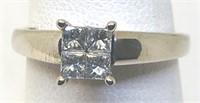 14KT WHITE GOLD DIAMOND RING 2.80 GRS