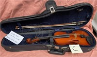 D - VINTAGE VIOLIN WITH BOW IN CASE - ANDREW