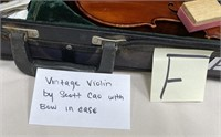 VINTAGE VIOLIN BY SCOTT CAO WITH BOW IN CASE (F)