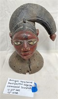 ANTIQUE HAND CARVED HAND PAINTED NIGERIAN