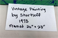 "VINTAGE PAINTING BY SHURTLEFF 1973 FRAMED 20""X23"""