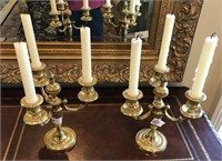 60 - BEAUTIFUL PAIR OF CANDLE AUBRAS