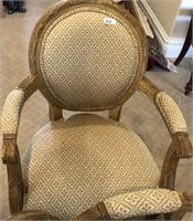 60 - PAIR OF BEAUTIFUL PADDED ARM CHAIRS
