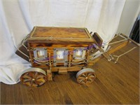 LIGHTED STAGECOACH
