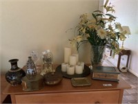 Anniversary Clock, Vase & Miscellaneous