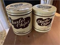 2 Charles Chips Tins