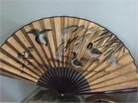2 Stand Tables & Oriental Fan