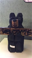 Welcome bear chainsaw art by local crafter