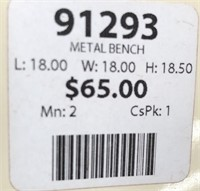 43 - NEW WMC PADDED METAL BENCH ($65.00)
