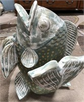 54 - LARGE GREEN FISH HOME DECOR