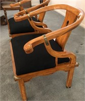 58 - PAIR OF JAMES MONT STYLE CHAIR IN MOHAIR
