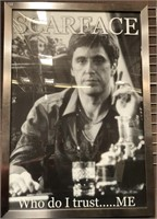11 - FRAMED SCARFACE POSTER
