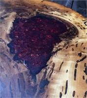 34 - TREE SLAB COFFEE TABLE