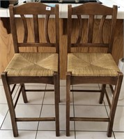 58 - NICE PAIR OF HIGH CHAIRS