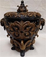 61 - UNIQUE CARVED URN WITH LID