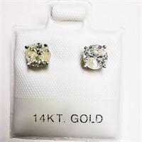 14K White Gold Diamond(0.52ct)  Earrings (~weight