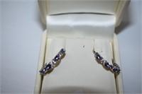 Silver Tanzanite(2ct)  Earrings (BK06-114)   (D2)
