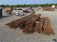 (10) Bundles of 10' Metal Tree Stakes