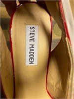 """169 - STEVE MADDEN """"RED"""" SHOES """"8 1/2"""""""