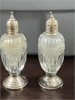 8 S&P Shakers -Sterling Silver/Glass