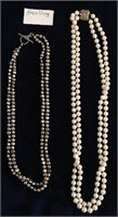 169 - STERLING & PEARLS  NECKLACES