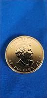 "Canadian 1 Oz Gold 50 Dollars ""Maple Leaf"" 2013"