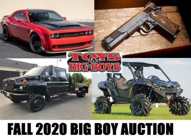 Annual Fall Big Boy Toy & Equipment - 10/1/20 - 6pm