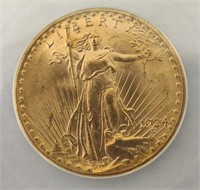 1924 Double Eagle MS64 High Grade Certified