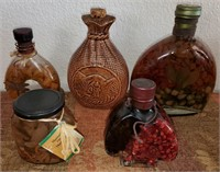 169 - LOT OF HOME DECOR BOTTLES - SEE PICS